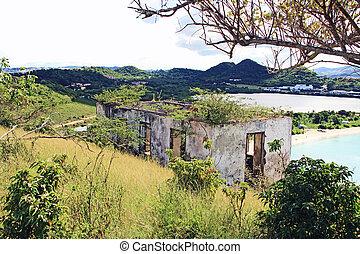 Block Guard House Near Old Fort Barrington in St. John?s Antigua