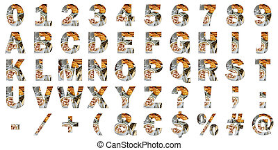 Block international alphabet letters, numbers, special characters and signs