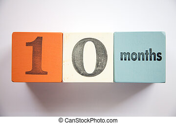 Block numbers and letters 10 months