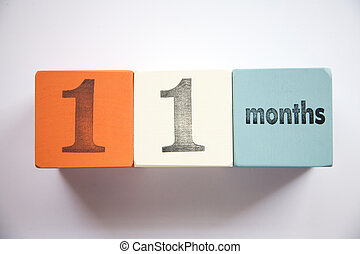 Block numbers and letters 11 months