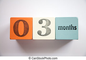 Block numbers and letters 3 months
