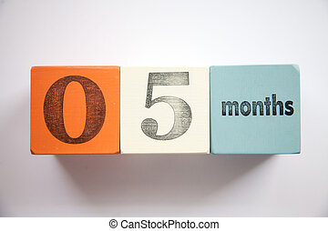 Block numbers and letters 5 months