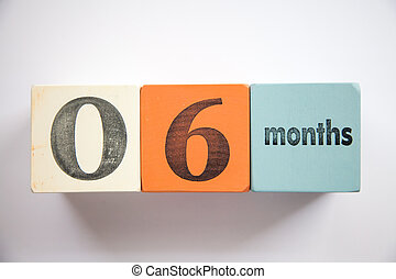 Block numbers and letters 6 months