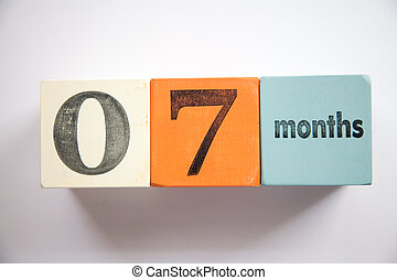 Block numbers and letters 7 months