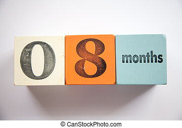Block numbers and letters 8 months