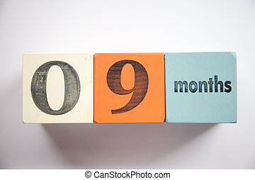 Block numbers and letters 9 months