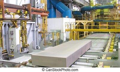 Block of aluminum platten pressing machine of rolling mill,...
