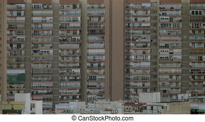 Block of flats in ALicante, Spain. Outside view