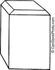 Block of hard wood or of rubber fiber with corners properly...