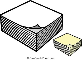 block of paper notes