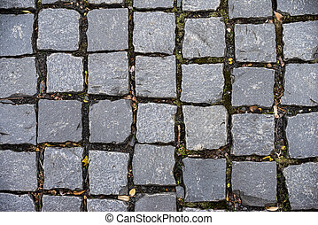Block pavement square stone on the floor