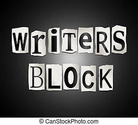 block., schrijvers