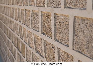 Block stone wall pattern