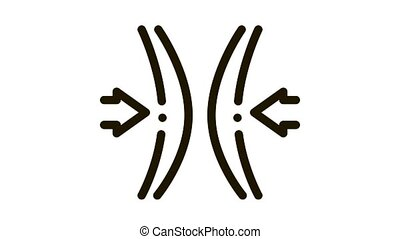 Block Vocal Cords Icon Animation. black Block Vocal Cords animated icon on white background