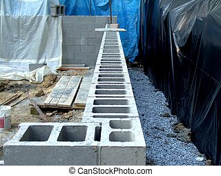 Block Wall - block wall for new house