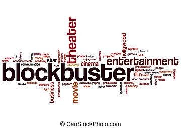 blockbuster, 単語, 雲