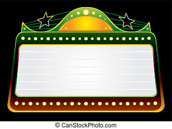 Blockbuster template - Blank blockbuster in green and gold...