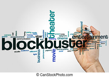 Blockbuster word cloud concept