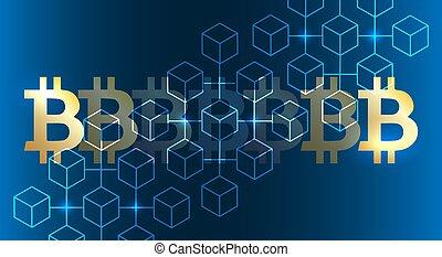blockchain, bitcoin, achtergrond