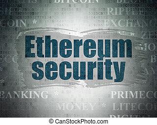 blockchain, concept:, ethereum, biztonság, képben látható,...