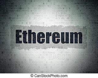 blockchain, concept:, ethereum, képben látható, digitális, adatok, dolgozat, háttér