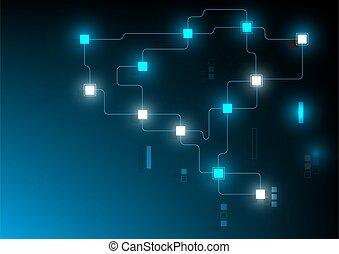 blockchain, concept, technologie, vector.