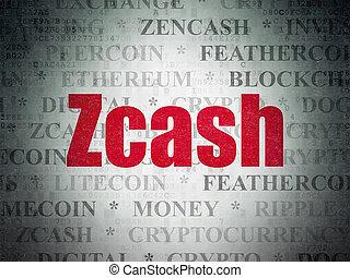 blockchain, concept:, zcash, képben látható, digitális, adatok, dolgozat, háttér