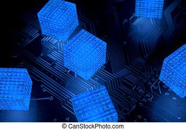 blockchain, datos, red