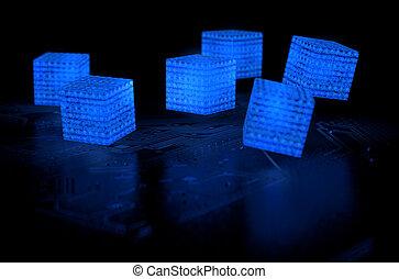 blockchain, données, réseau