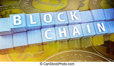 Blockchain security computer encryption concept for online banking and secure payment technology - 3D Render Illustration