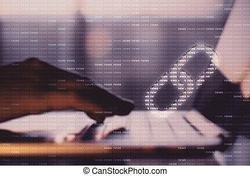 blockchain, laptop
