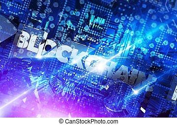 Blockchain Platform Concept 3D - Blockchain Platform For...