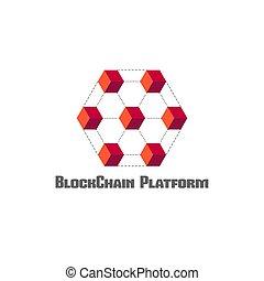 blockchain platform concept symbol