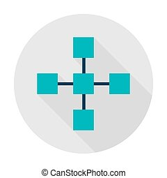 Blockchain Technology Circle Icon