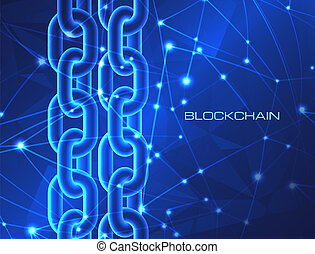 Blockchain technology concept database cryptocurrency digital bitcoin network crypto money mining background