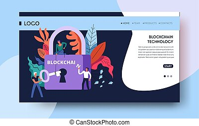 Blockchain technology cryptocurrency and web money Internet...