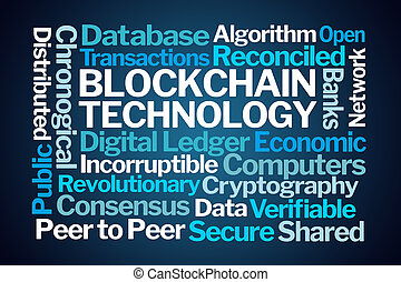 Blockchain Technology Word Cloud