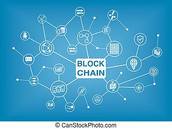 Blockchain vector illustration background