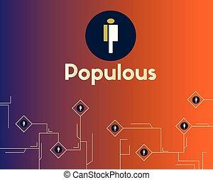 blockchain, virtual, cryptocurrency, plano de fondo, ...