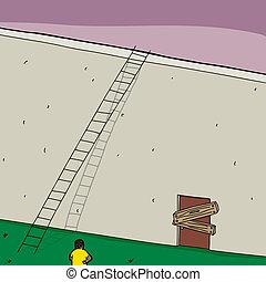 Blocked Door and Ladder