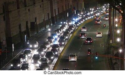 Blocked traffic inside of Rome
