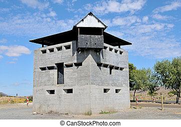 Blockhouse north of Laingsburg at the Geelbek River railway brid