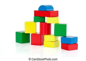 blocks, деревянный, здание
