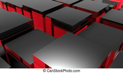 Blocks background. Random animation