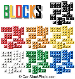blocks - bricks vector