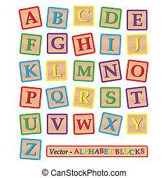 Blocks - Image of alphabet blocks isolated on a white...