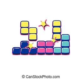 blocks puzzle retro video game