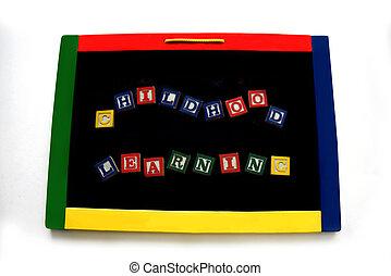 Blocks Spell Childhood Learning on Magnetic Board