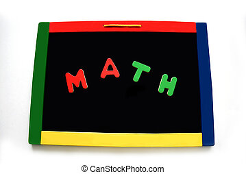Blocks Spell Math on Magnetic Board