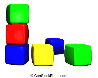 Blocks - A colorful pile of plastic building blocks